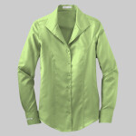 Ladies Herringbone Non Iron Button Down Shirt