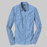 Made® Ladies Long Sleeve Washed Woven Shirt